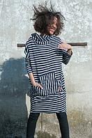 Блуза туника MARINE из хлопка Коллекция весна 2017