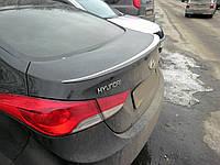Спойлер багажника (лип спойлер, сабля, утиный хвостик) Hyundai Elantra 2011-2015 г.в. Хюндай Елантра