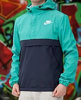 Мужской анорак Nike светло-зеленый
