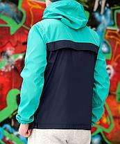 Мужской анорак Nike светло-зеленый топ реплика, фото 3