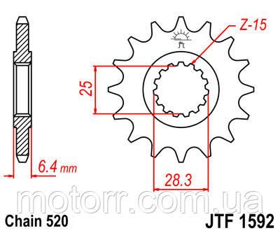 Зірка передня JT JTF1592.14