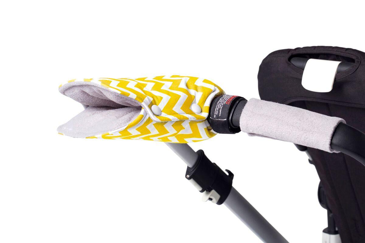 Флисовые рукавицы для коляски и санок LC «Большая Сахара», GoforKid