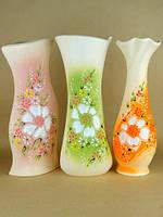 Вазы из керамики в нежных тонах недорого. Украинский мотив.