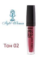 Жидкая помада LuxVisage Pin Up Ultra matt тон 02 розовый пион