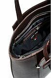 Сумка женская кожаная коричневая 2600., фото 3