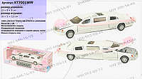Машинка инерционная KT 7001 WW, модель Lincoln Town Car Stretch Limousine 1999, Kinsmart, металл, 18 см