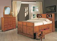 Односпальная кровать с ящиками - Силвестр