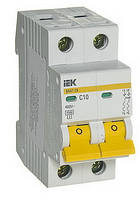 Автоматический выключатель IEK ВА47-29 2P 10A 4,5кА х-ка C