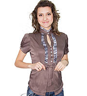 Блузка женская коричневая