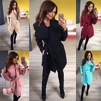Пальто кардиган женское с запахом 161 норма и бат ,магазин модной одежды