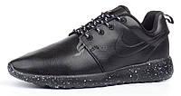 Кроссовки мужские кожаные Nike Roshe Run Oreo черные, Черный, 45
