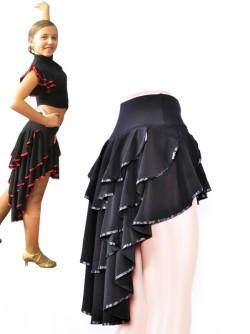 Юбка тренировочная для танцев Латина с красным 44р - Интернет-магазин Vitrina Shop в Днепре