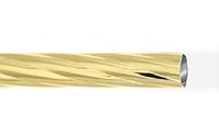 Труба витая 1,6 м. для кованого карниза 16 мм золото