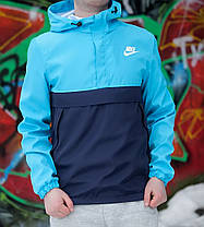 Анорак Nike President голубой  топ реплика, фото 3