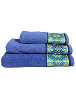 Махровые полотенца Оберег, 50*90 см лицевое,  украинская символика, лучшая цена!