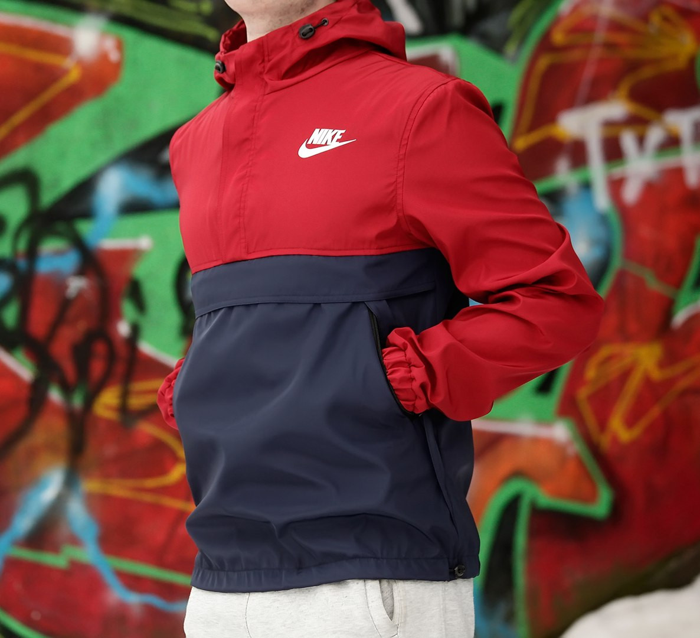 Мужской анорак Nike President бордовый топ реплика
