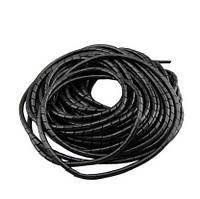 Кабель-канал чорний, спіраль (гнучкий), ф8