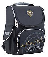 """Ранец ортопедический каркасный """"1 Вересня"""" Oxford black H-11, 553294"""