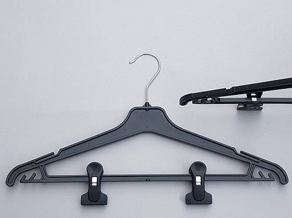 Плечики вешалки тремпеля Marc-Th WPN42-P черного цвета, длина 42 см, фото 2