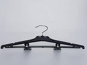 Плечики вешалки тремпеля Marc-Th WPN42-P черного цвета, длина 42 см, фото 3