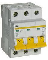 Автоматический выключатель IEK ВА47-29 3P 25A 4,5кА х-ка C