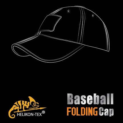 Бейсболка Folding® - PolyCotton Ripstop - черная, фото 2