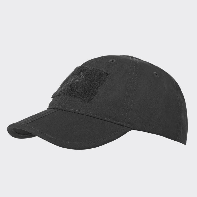 Бейсболка Folding® - PolyCotton Ripstop - черная