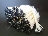 Тайские тычинки, ЧЕРНЫЕ, супер-мелкие на белой нити, 23-25 нитей, 50 головок