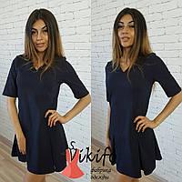 Платье с заниженной талией и юбкой в складку мини 3 цвета SMf1225