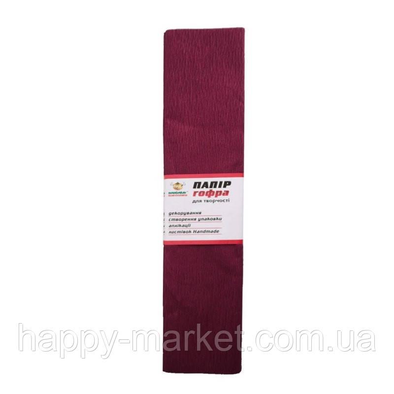 Гофро-бумага 60% 14CZ-013 бордовая (50*200 см., 10 шт./уп.)