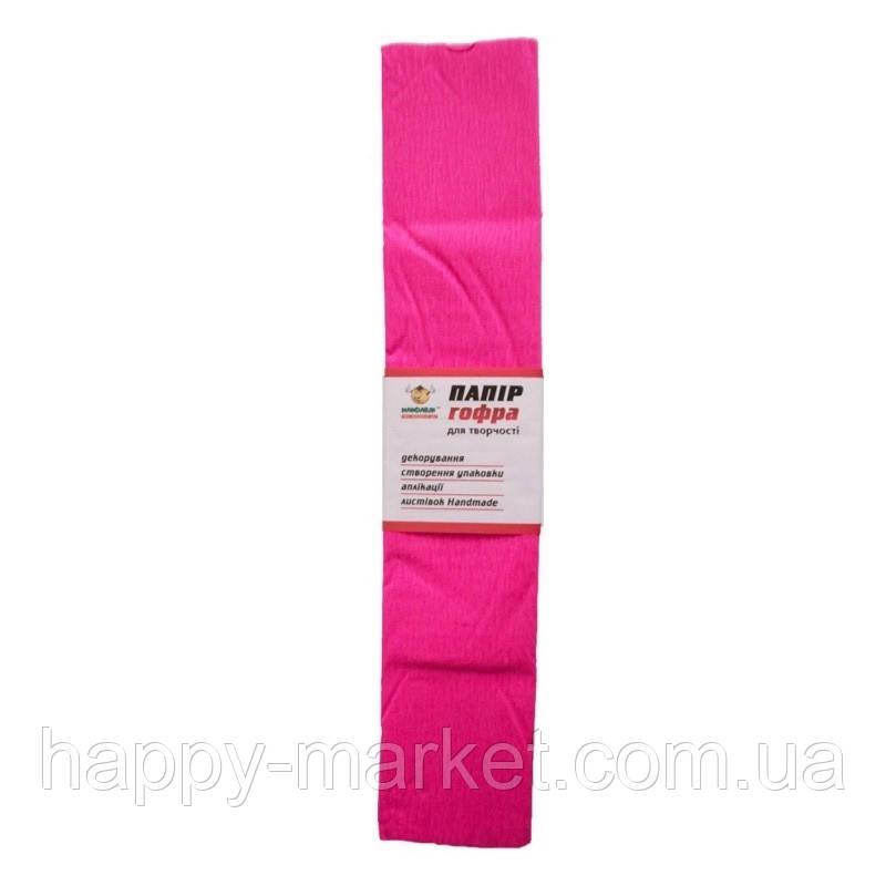 Гофро-бумага 60% 14CZ-011 темно-розовая (50*200 см., 10 шт./уп.)