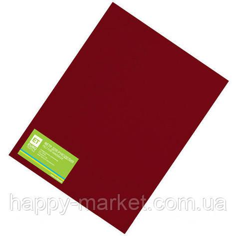 Фетр бордовый 20 листов (1мм/20x30см), фото 2