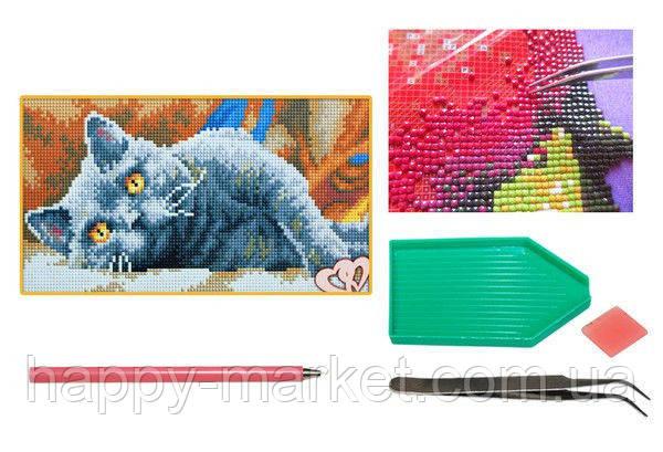Мозаика алмазная 5D Британский кот 20*33 см., фото 2