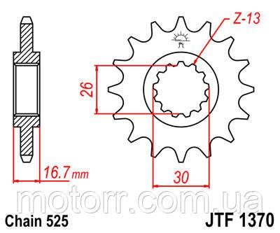 Звезда передняя JT JTF1370.16