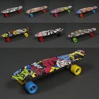 Скейт 822 (8) АБСТРАКЦИЯ, БЕЗ СВЕТА, длина доски 55см, колёса PU - d=6см