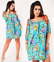 Короткое модное платье большого размера Likara