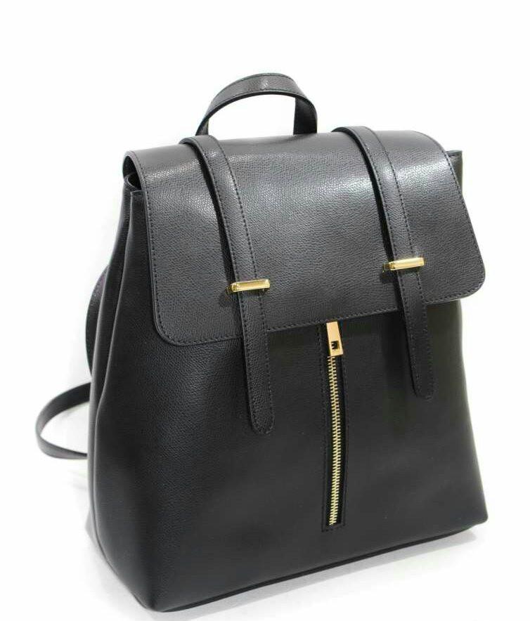 Рюкзак кожаный женский чёрный 2501.