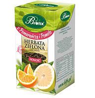 Чай зеленый Bifix с апельсином и помело, 100 гр