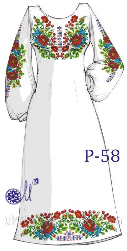 Заготовка для вишивання плаття бісером Р-58