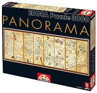 "Пазл ""Карта мира от 1375года, Аврам Крескес"" 3000 элементов, EDUCA"