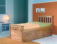 Односпальная кровать с ящиками - Даниэль, фото 1