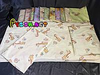 Постельный набор в детскую кроватку (3 предмета) Жирафы Бежевый