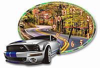 Настенные фигурные часы, часы для дома Автомобиль, Машина 30*45 см