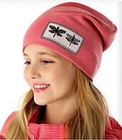 Демисезонная весенняя шапочка для девочки Стрекозки, Marika (Польша)