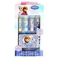 """Детский набор бальзамов для губ """"Холодное Сердце"""" Disney Frozen Lip Balm with Glitter Case and 4 Flavors 4 шт"""