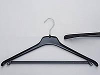Плечики вешалки  тремпеля Coronet HL-245 черного цвета , длина 45 см