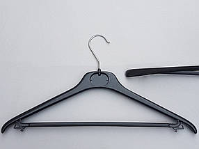 Плечики вешалки  тремпеля Mainetti   S-5 черного цвета, длина 45 см, фото 2