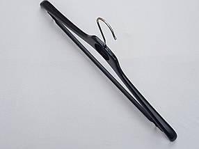 Плечики вешалки  тремпеля Mainetti   S-5 черного цвета, длина 45 см, фото 3