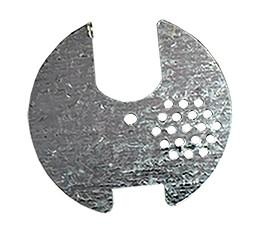 Летковый заградитель круглый  металлический (оцинкованный): диаметр 80мм