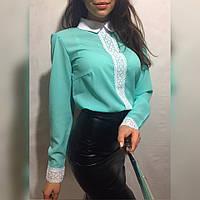Женская стильная блуза с воротничком (3 цвета)